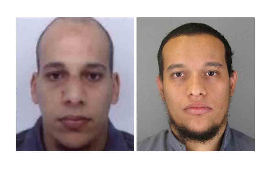 Cherif e Said Kouachi, irmãos autores do atentado ao jornal Charlie Hebdo.