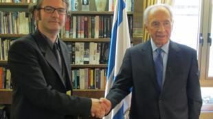 Le président israelien, Shimon Peres.