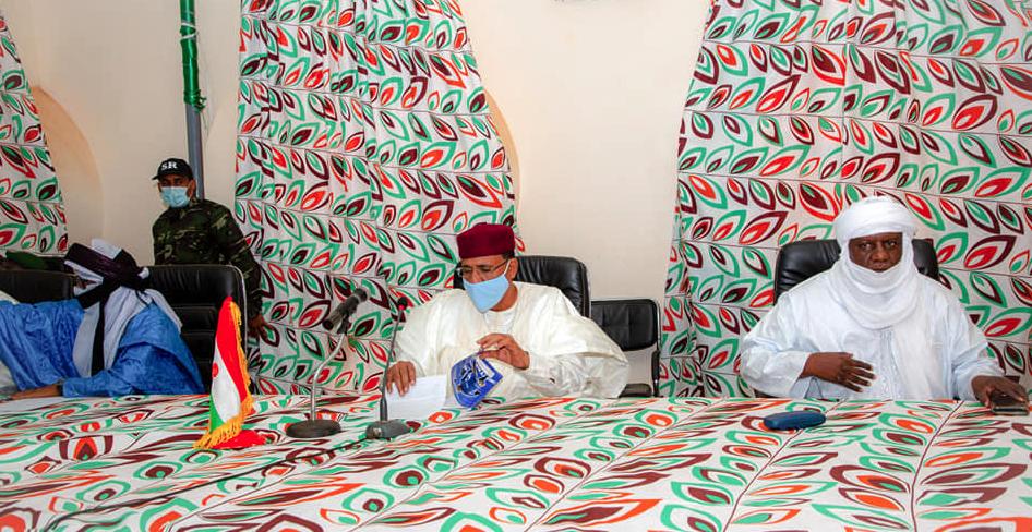 Shugaban kasa Bazoum Mohammed da tawagar sa a Tillaberi
