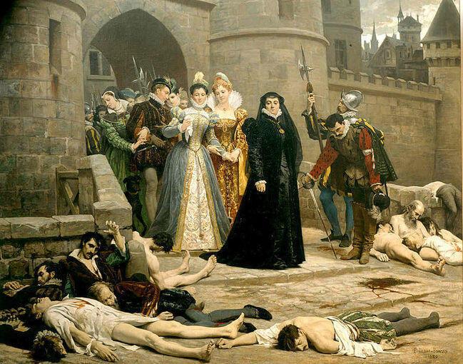"""تابلوی کشتار پروتستانهای فرانسه معروف به کشتار """"سن برتلِمی"""""""