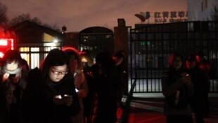 事發的北京管莊紅黃藍幼兒園新天地分園資料圖片