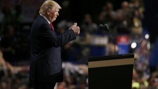 Donald Trump lors de la précédente convention républicaine réunie à Cleveland, en 2016.