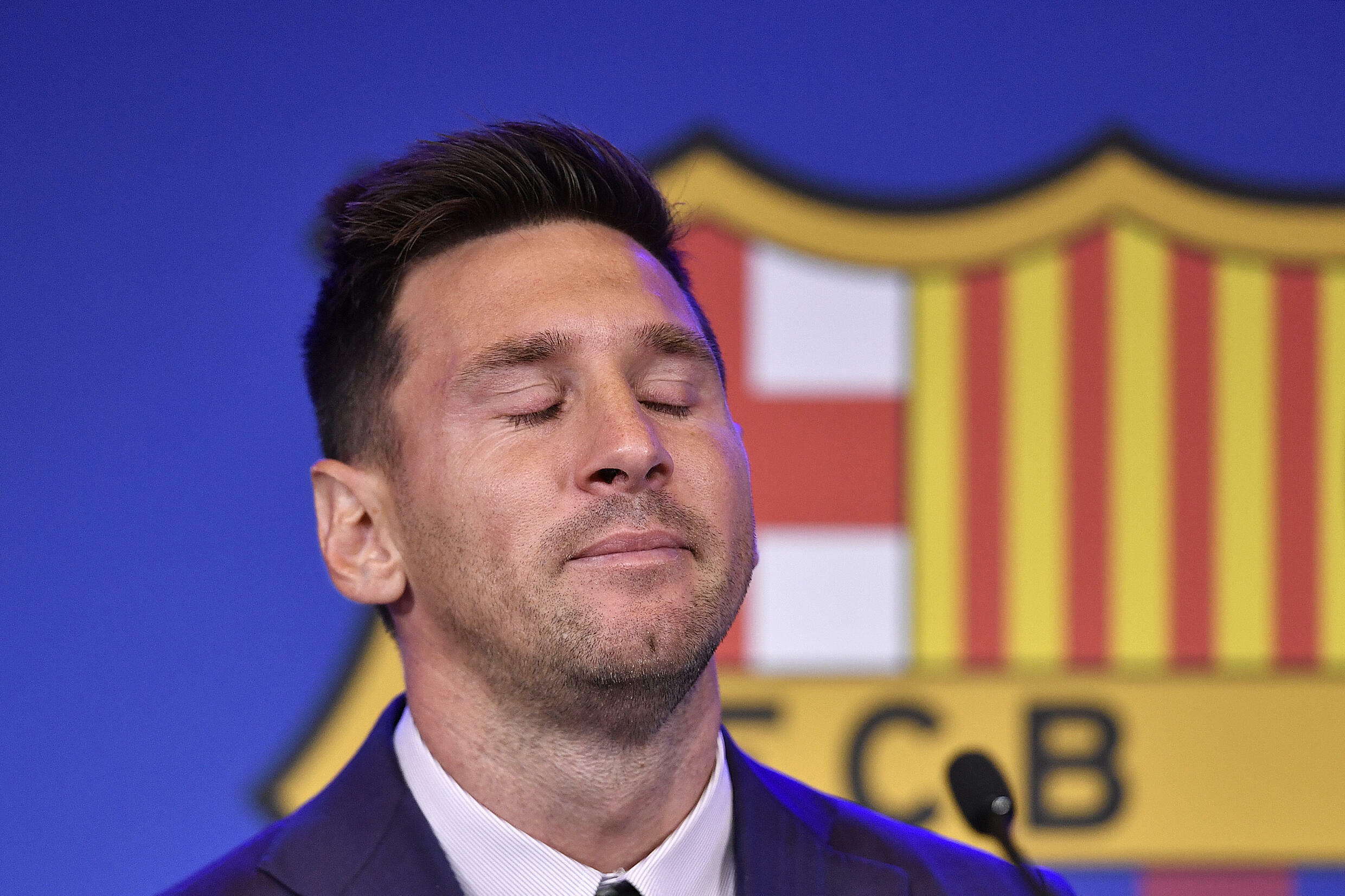 Goodbye Barcelona, hello Paris?: Lionel Messi at his farewell press conference on Sunday