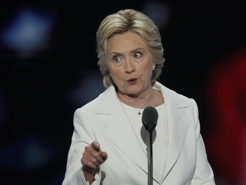 Кандидат в президенты США от Демократической партии Хиллари Клинтон на съезде партии, Филадельфия, 28 июля 2016 г.