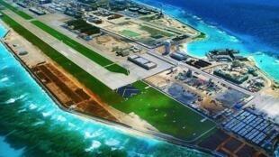 中国官媒此前公布的南海永暑礁俯瞰全景图
