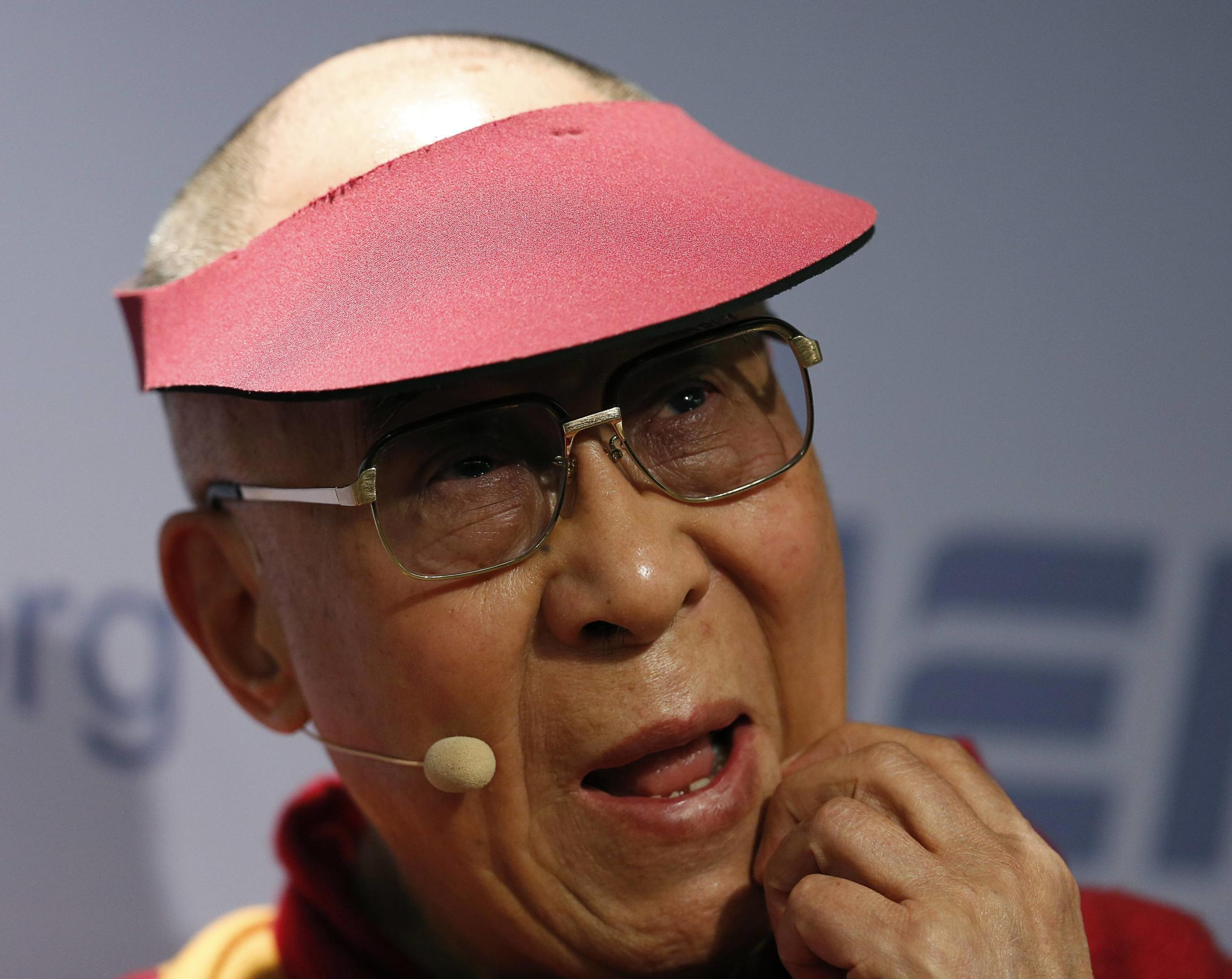 Le Dalaï-Lama à Washington, le 20 février 2014, avant sa rencontre avec Barack Obama.