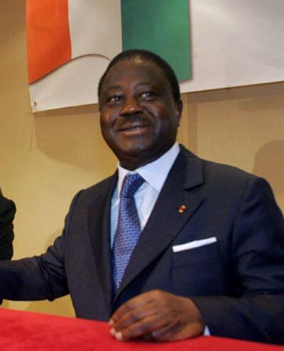 Henri Konan Bedié, ancien chef de l'Etat ivoirien et président du PDCI. Paris, le 30 octobre 2000.