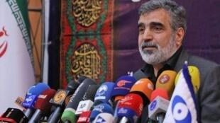 Behrouz Kamalvandi, portavoz de la Organización de Energía Atómica de Irán anuncia la puesta en marcha de nuevas centrífugadoras para enriquecer uranio. Teherán 7 de sptiembre 2019