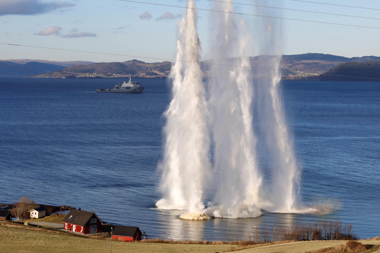 Manoeuvres « Trident Junction 18 » de l'Otan à Trondheim, en Norvège, le 31 octobre 2018.