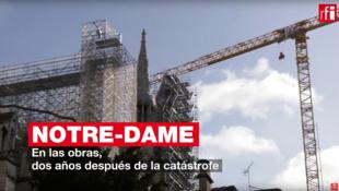 En las obras de Notre-Dame, dos años después del incendio