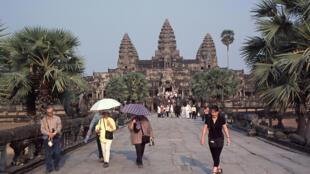 L'Asie du Sud-Est enregistre une forte croissance. Ici, des touristes sur le site d'Angkor, au Cambodge.