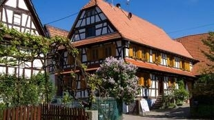 A typical timbered house in Hunspach, voted 'France's favourite village' in 2020