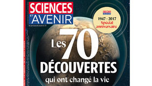Couverture Sciences et Avenir «Les 70 découvertes qui ont changé la vie».