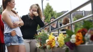 Homenagens às nove vítimas do atirador em um shopping de Munique.
