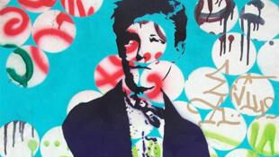 Artwork created for the exhibition by grafitti artist Pedro.