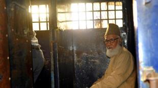 Motiur Rahman Nizami, dirigeant islamiste de 71 ans, dans sa prison le 30 janvier 2014.