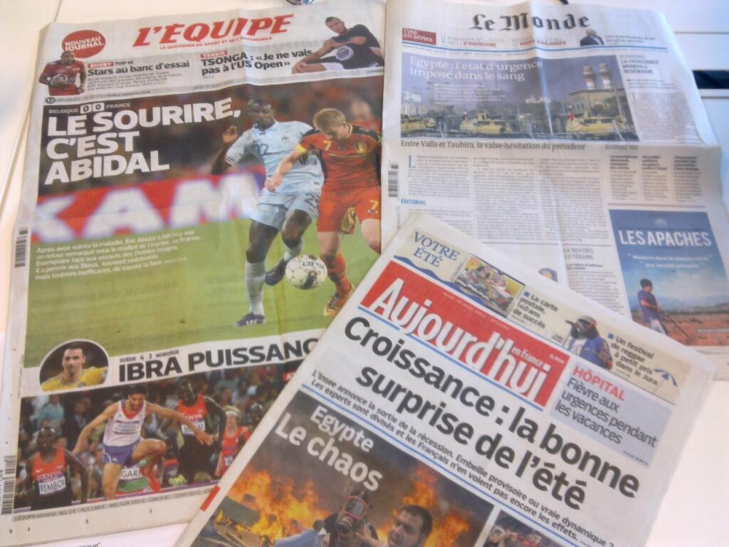 Diários franceses  15/08/2013