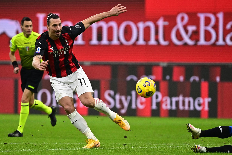 L'attaquant suédois de l'AC Milan, Zlatan Ibrahimovic.