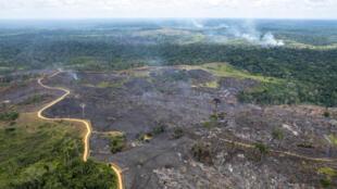 Queimada na Floresta na Amazônia em 2018.