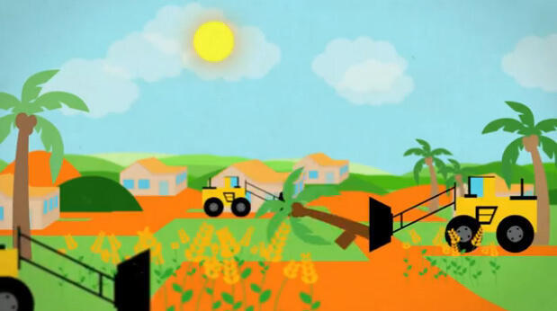 """Screengrab from the video """"A begginer's guide to land grabs"""""""