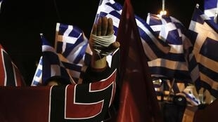 Manifestation des partisans d'Aube dorée à Athènes, le 30 novembre 2013.