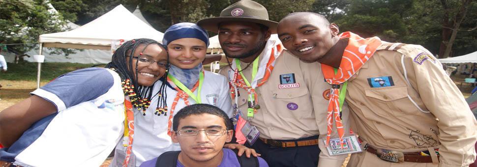 Des jeunes scouts angolais.