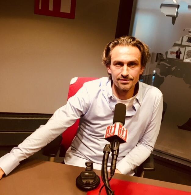 L'écrivain français Nicolas Fargues en studio à RFI (février 2019).