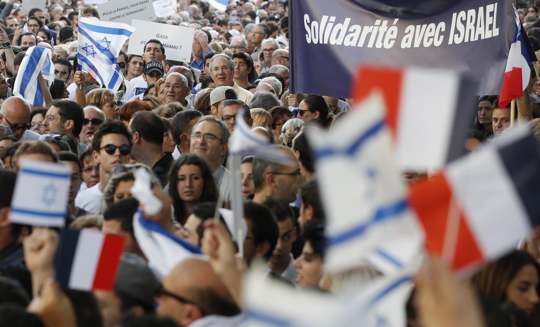The pro-Israel demonstration on Thurdsay in Paris