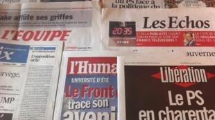 capas diários franceses 24/08/2012