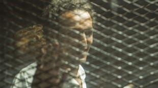 Le photojournaliste Egyptien Mahmoud Abu Zeid, surnommé «Shawkan», lors de son procès au Caire, le 8 septembre 2018.