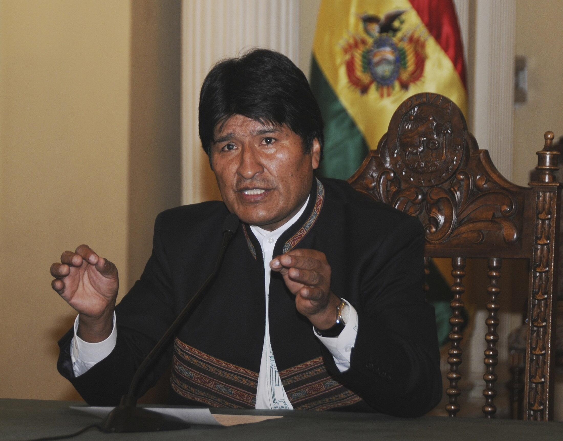 Le président bolivien, Evo Morales, se livre à un bras de fer avec les policiers.