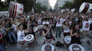Manifestation des « Indignés » grecs à Athènes, le 29 mai 2011.
