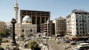Вид одного из центральных районов Дамаска.