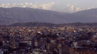 Vue de la ville de Katmandou, capitale du Népal.