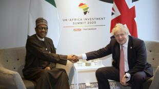 PHOTO Buhari-Johnson 20 janvier 2020