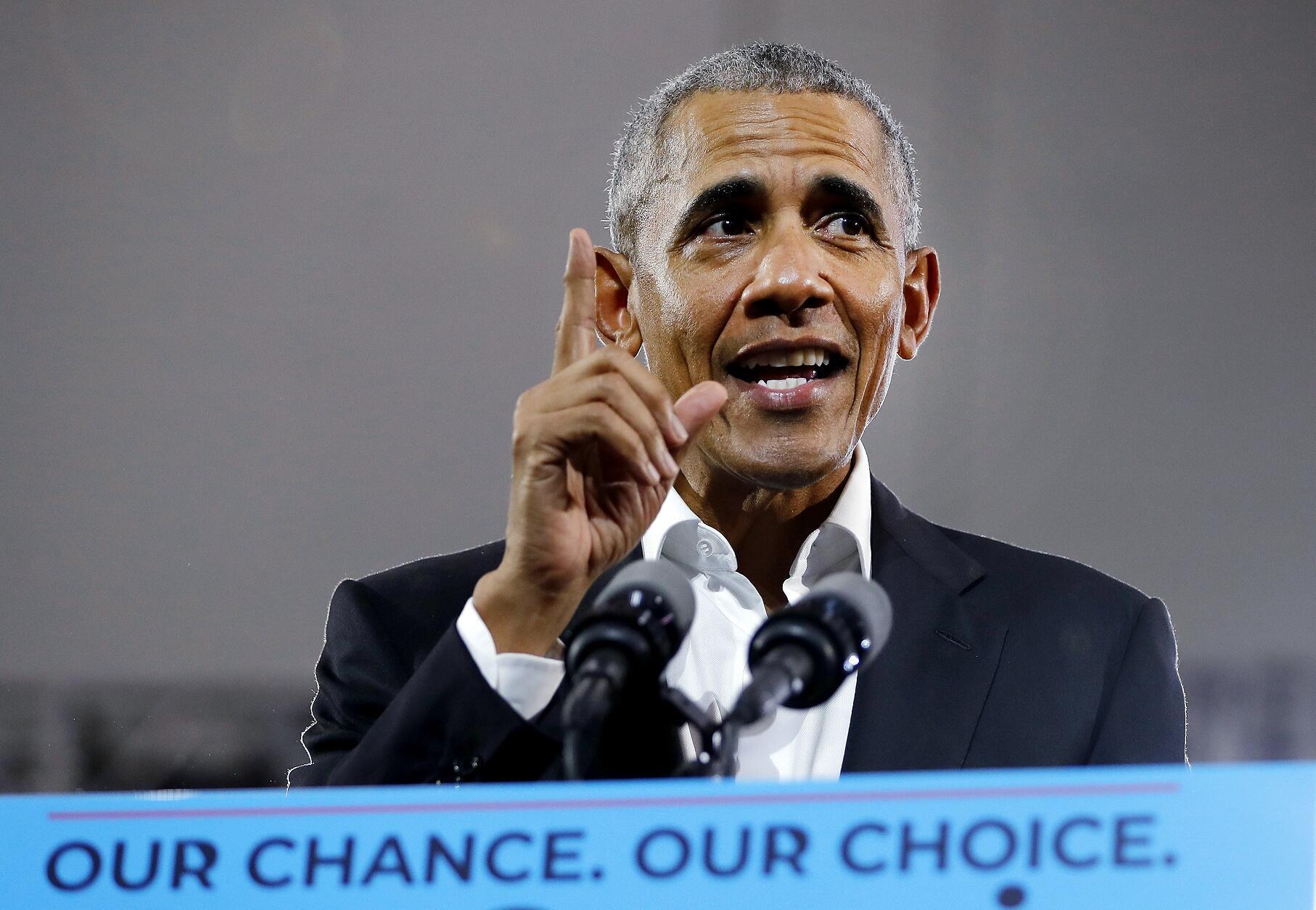 Barack Obama à Atlanta, en Georgie, le 8 novembre.