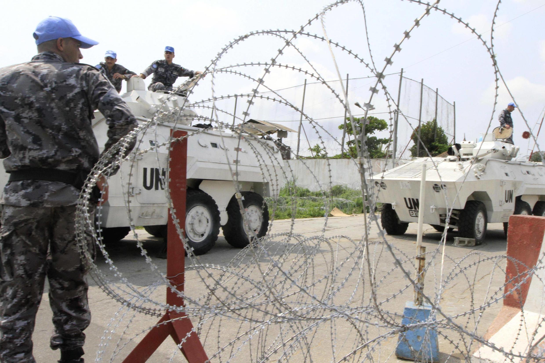 Devant le quartier général de l'Onuci à Abidjan.