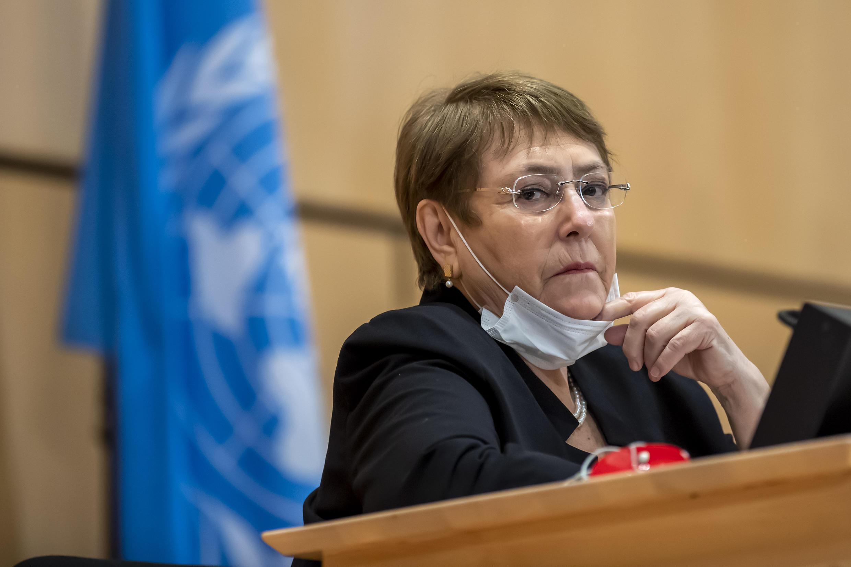 联合国人权事务高级专员巴舍莱(Michelle Bachelet)