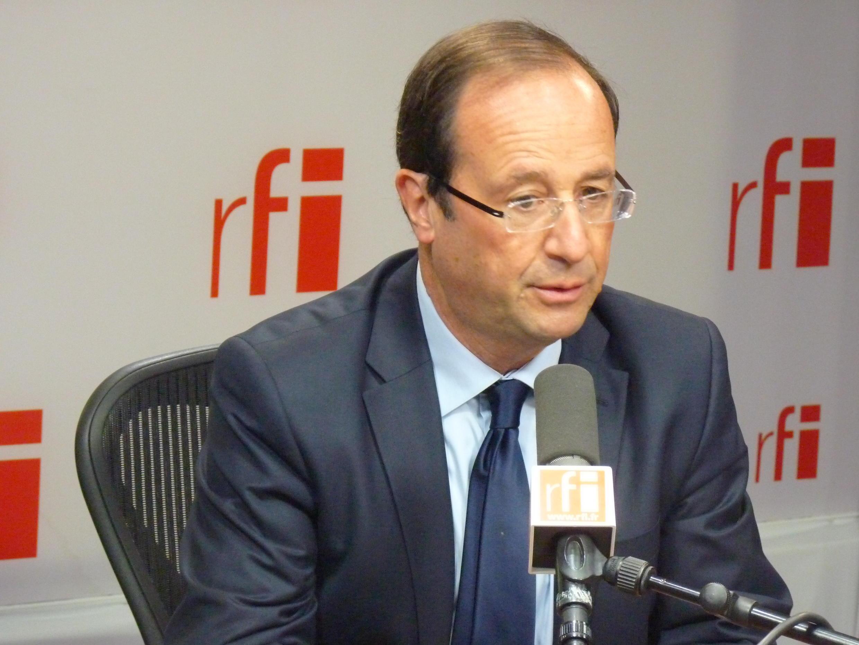 François Hollande in RFI's studios
