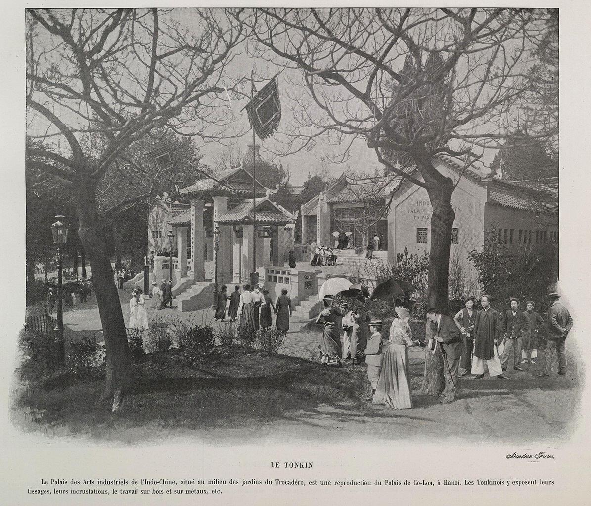 Triển lãm Hoàn cầu Paris 1900. Khu Đông Dương (Pavillon de l'Indochine), Paris. Ảnh của nhà sách Nghệ thuật Ludovic Baschet, 1900.