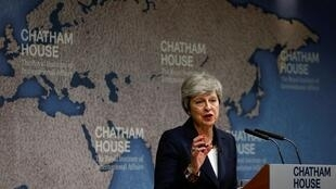 Theresa May, le 17 juillet 2019 à Londres.