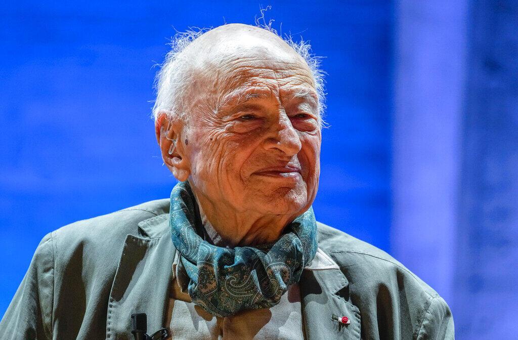 Sociólogo e filósofo francês Edgar Morin, em solenidade em sua homenagem na Unesco, em Paris. (02/07/2021)