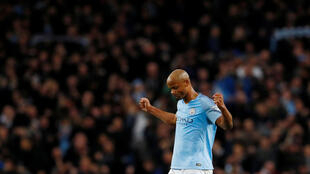 Vincent Kompany scored his first goal of the season against Leicester City.