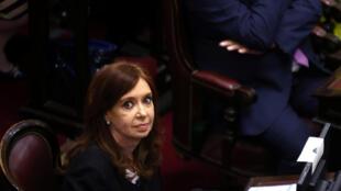 Cristina Kirchner en el Senado argentino, Buenos Aires, el 29 de noviembre de 2017.