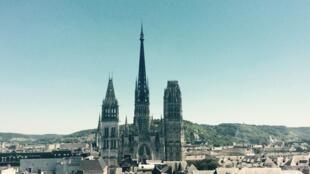 Nhà thờ Đức Bà Rouen, Notre-Dame de Rouen, nhìn từ tháp Đồng hồ.