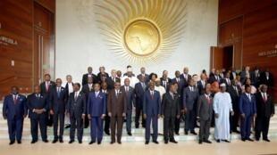 Wasu shugabannin kasashen nahiyar Afrika da ke karkashin kungiyar AU.
