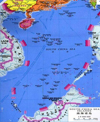 中国申要南海主权九段线网络图