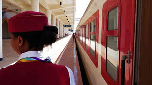 La gare de Labu à Addis Abeba, la capitale de l'Ethiopie.