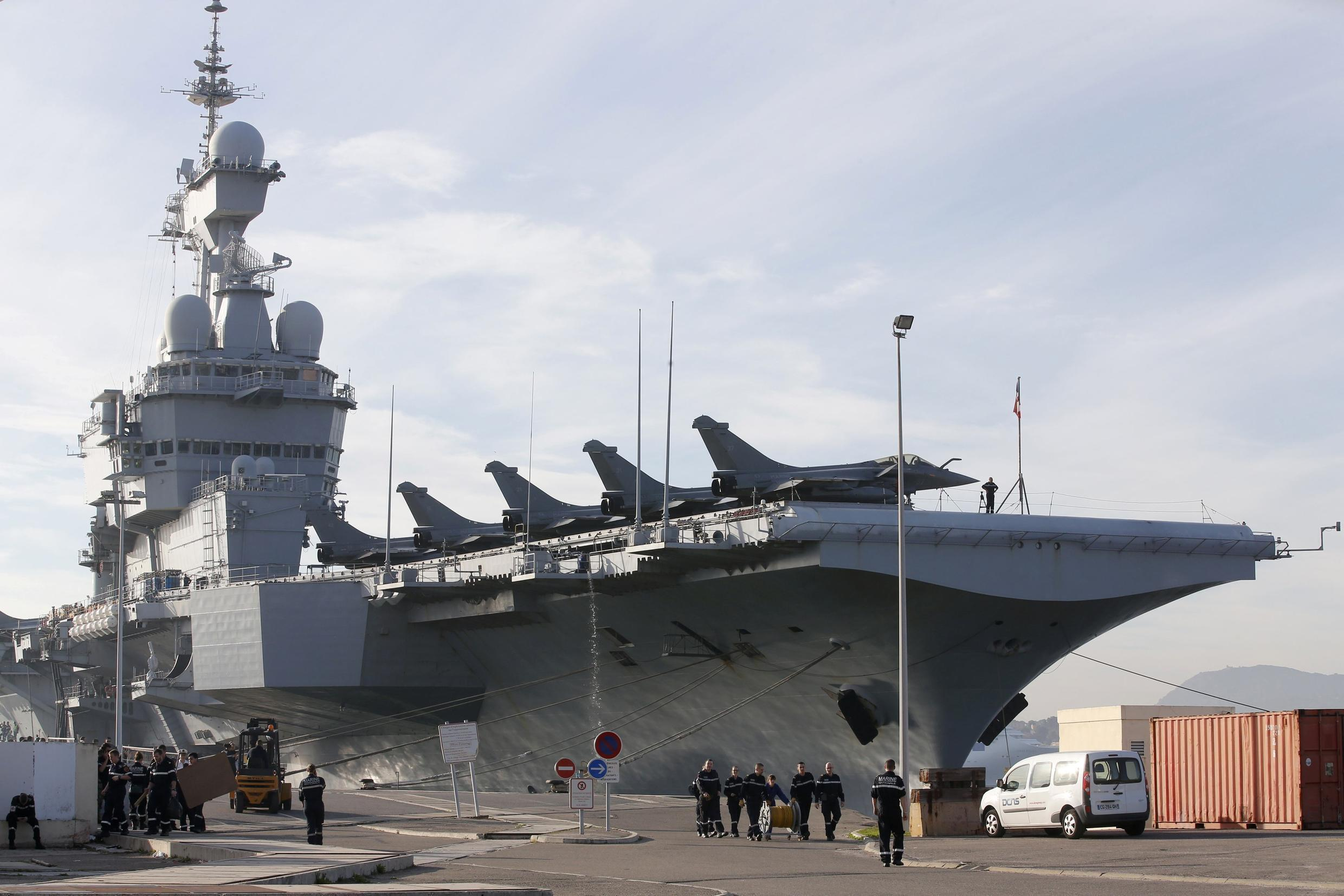 File photo of  the Charles-de-Gaulle aircraft carrier