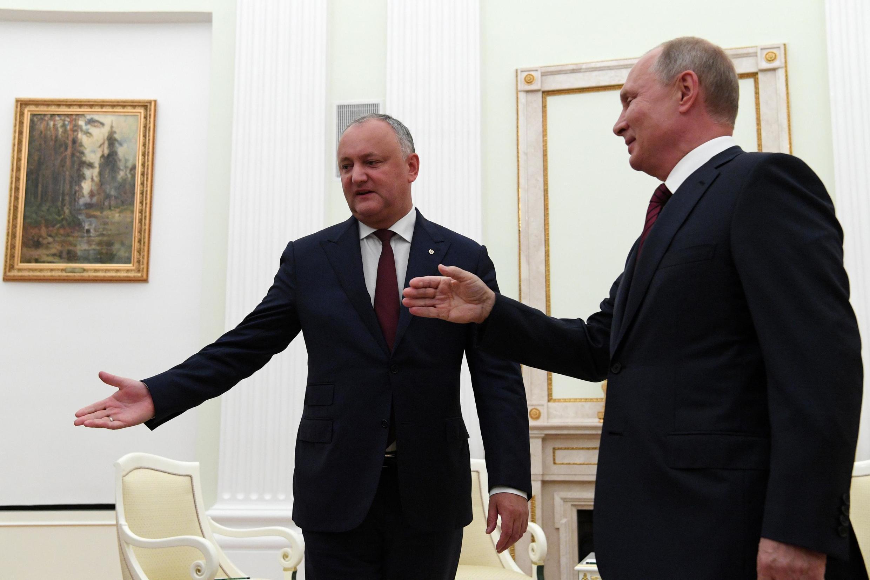 Игорь Додон и Владимир Путин в Кремле, 7 сентября 2019
